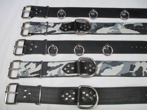 Leather Robust 2 inch Commando Style Collar in a choice of two Designs